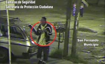 Gracias a las cámaras de seguridad de San Fernando, fue desbaratado un hurto en la vía pública