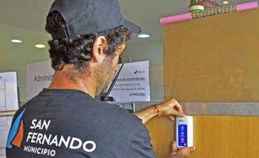 El Municipio de San Fernando instaló Botones de Pánico en los Polideportivos