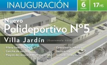 Se inaugura el Polideportivo Nº5 de San Fernando