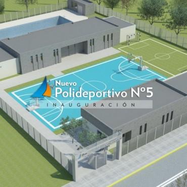 Debido a las lluvias, se suspendió la inauguración del Polideportivo N°5