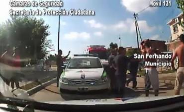Patrullas municipales detuvieron a tres sujetos que balearon a un hombre en Villa Hall