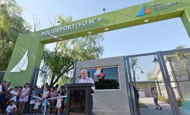 Andreotti inauguró el Polideportivo N° 9 de San Fernando