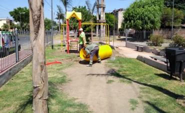 San Fernando pone en valor un nuevo espacio verde en Villa Hall