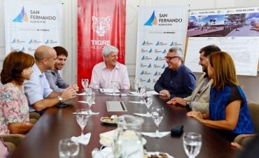 Andreotti y Zamora firmaron el convenio para construir la Plaza del Canal