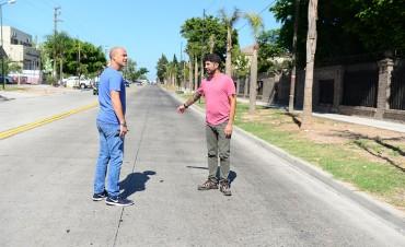 En San Fernando, la calle Uruguay ya es más segura y luce embellecida