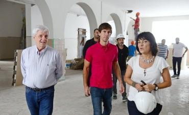 Luis Andreotti supervisó las obras en la Escuela N°1 de San Fernando
