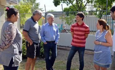 Andreotti supervisó la última etapa de la obra en el Jardín N°910
