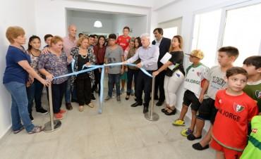 Andreotti inauguró las nuevas escuelas N° 20 y 28