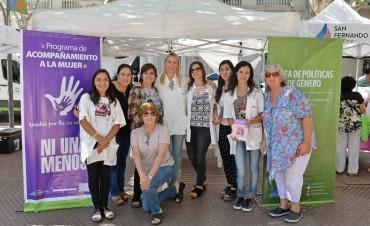 San Fernando organizó una jornada en Plaza Mitre por el Día Internacional de la Mujer