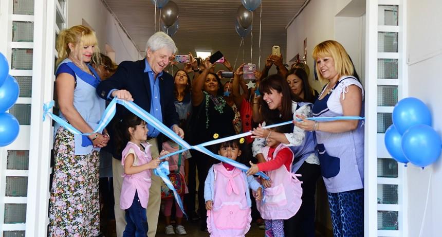 Andreotti renovó otro edificio escolar más, el Jardín N° 907