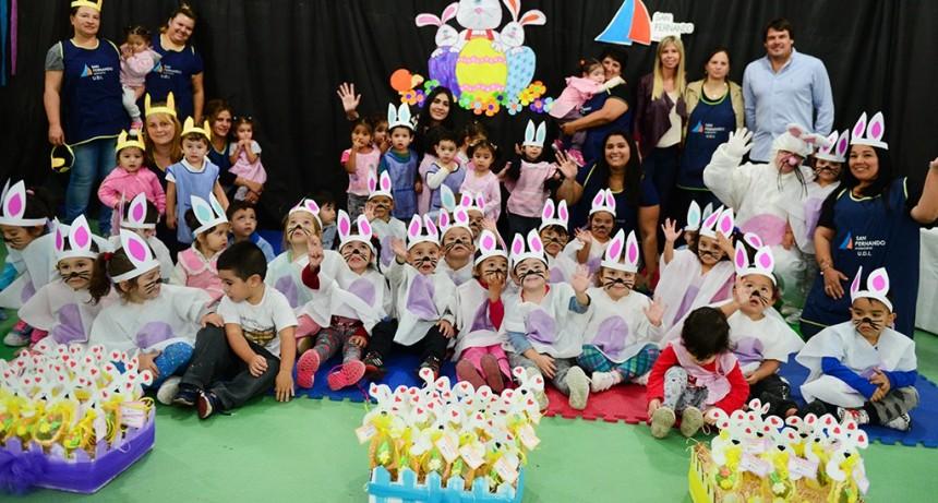 Los Jardines Maternales, CEIM y 'Sumate' de San Fernando celebraron las Pascuas