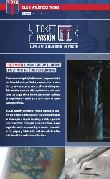 Insólita campaña de Tigre: los hinchas podrán entrar a la cancha con un chip bajo la piel