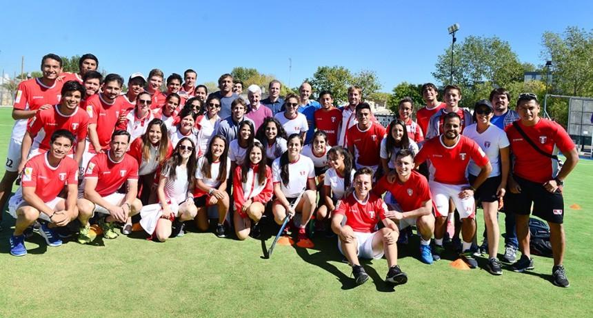 Andreotti recibió a la Selección de Perú en el Poli 7 de San Fernando