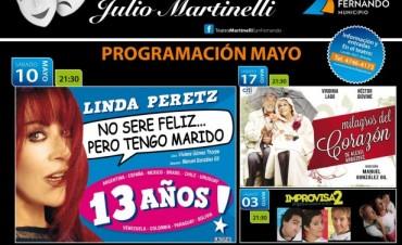 Programación del mes de mayo en el nuevo Teatro Martinelli