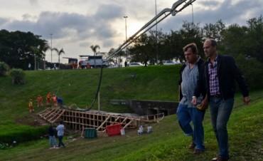 Comenzó la última etapa del Reservorio de Carlos Casares y Acceso, y se anunciaron otros más