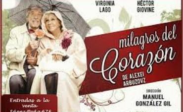 """""""Milagros del Corazón"""" con Virginia Lago y Héctor Gióvine, se presentará este sábado en el Teatro Martinelli"""