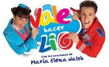 """Teatro Martinelli: """"Vale hacer Lío"""" con canciones de María Elena Walsh"""