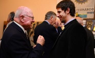 Juan Andreotti y funcionarios municipales celebraron el aniversario del Rotary Club San Fernando