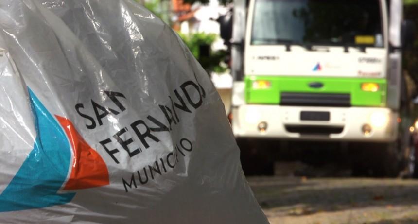 Ante el alerta climático del SMN, San Fernando recomienda no sacar la basura a la calle