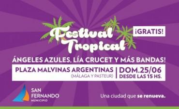 Este finde, Ángeles Azules y Lía Crucet en el Festival Tropical de San Fernando