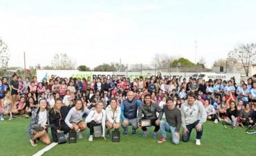 Las Leonas brindaron una clínica de hockey en San Fernando