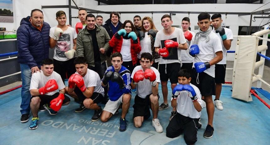 Los chicos del Centro Convivencial Terapéutico de San Fernando realizan distintas actividades deportivas