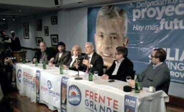 La fórmula Domínguez-Espinoza sumó el apoyo del Frente Grande en la