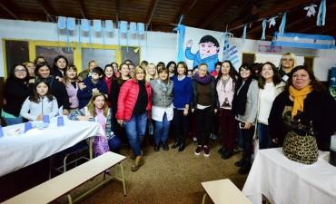 Alicia Aparicio visitó la Escuela N° 3 de Virreyes