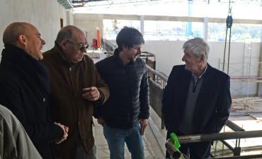 Andreotti visitó la etapa final del Nuevo Cuartel de Bomberos