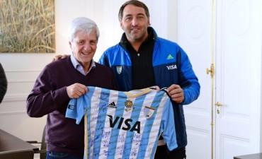 Luis Andreotti recibió al DT de Los Leones, Carlos