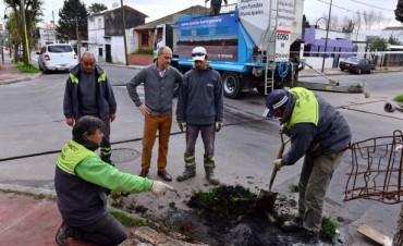 Mejoras en calles, veredas y cordones en Virreyes