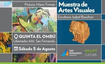 Muestra de Artes Visuales por Firman y Bouchon en la Quinta el Ombú de San Fernando
