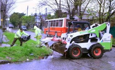 El Municipio realizó trabajos más intensivos de limpieza por las lluvias