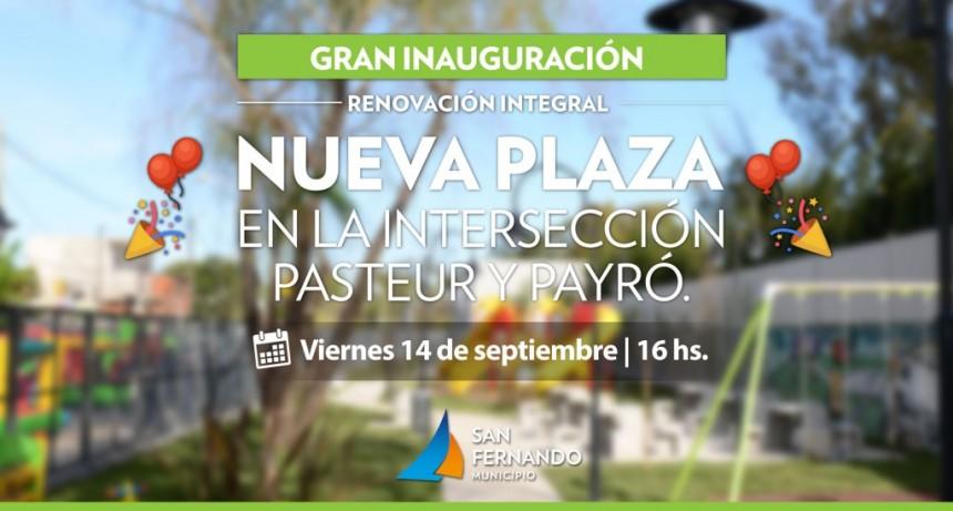 San Fernando inaugurará una nueva plaza en Virreyes Oeste