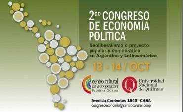 """Segundo Congreso de Economía Política """"Neoliberalismo o proyecto popular y democrático en Argentina y Latinoamérica"""""""