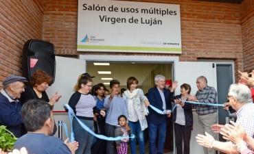 Andreotti inauguró el nuevo SUM del Sumate 'Virgen de Luján'