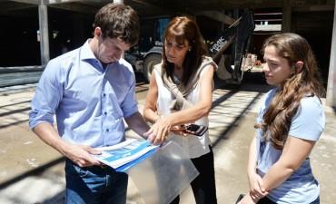 Juan Andreotti visitó la obra del Hospital Municipal de San Fernando