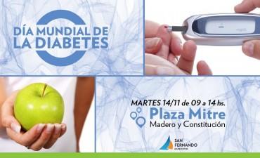 """Este martes 14, jornada del """"Día Mundial de la Diabetes"""" en Plaza Mitre"""