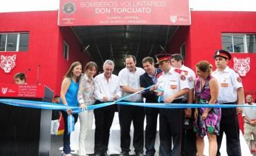 Se inauguró el nuevo cuartel central de Bomberos de Don Torcuato