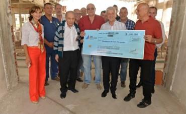Andreotti supervisó el progreso del nuevo Cuartel de Bomberos de San Fernando