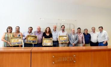 El HCD de San Fernando reconoció a los concejales que concluyen su mandato