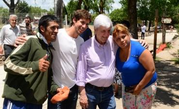 Andreotti supervisó la obra de cloacas y pavimentación del barrio San Martín
