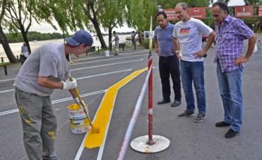 San Fernando realiza trabajos de ordenamiento del tránsito en la Costanera
