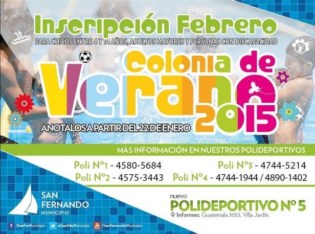 Comienzan las inscripciones para las Colonias de febrero en San Fernando