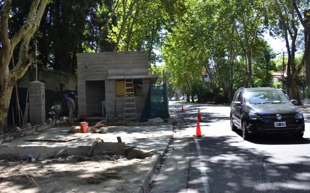 Avanza la construcción de la séptima Posta Policial de avenida Del Libertador