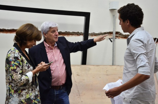 Luis Andreotti visitó la construcción de una nueva Unidad de Desarrollo Infantil
