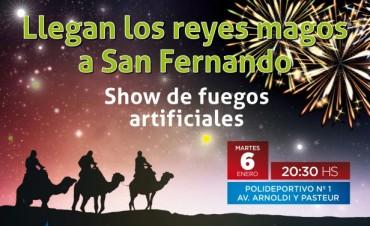 Vuelven los Reyes Magos a San Fernando, con un show de fuegos artificiales