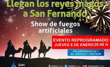 Por lluvias, se reprogramó la llegada de los Reyes Magos a San Fernando