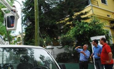 Tigre refuerza la iluminación en barrios del distrito