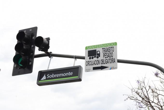 Nuevos letreros indicadores de calle en San Fernando